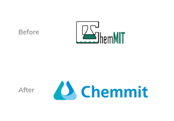 Chemmit Logo Before After